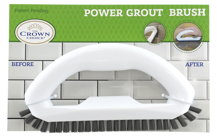 Power Grout Cleaner Brush with Stiff Angled Bristles