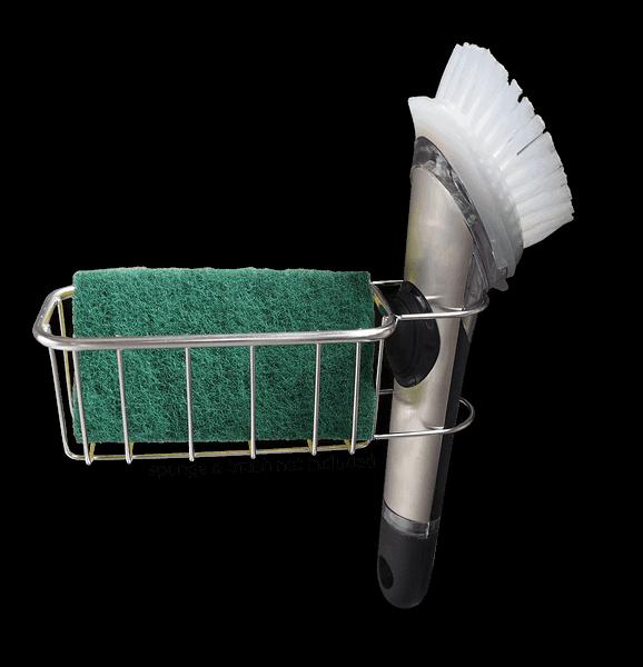 sponge holder brush caddy in sink